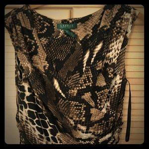 Ralph Lauren print midi dress
